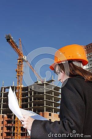 Architect on building area