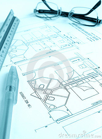 Free Architect Building Plan, Hotel Royalty Free Stock Photo - 5924295