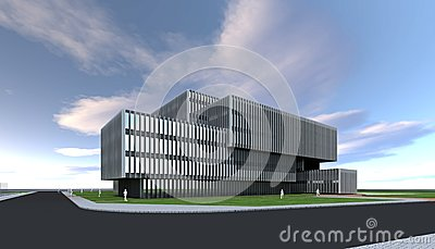 Architect concept modern building