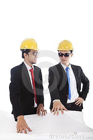 Architect and construction engineers