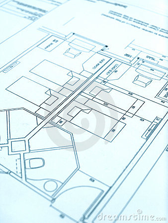 Architect floor plan, hotel construction