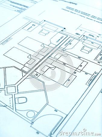 Architect floor plan, hotel construction