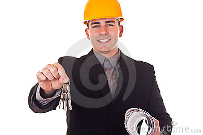 Architect with keys