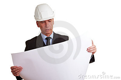 Architect looking at construction
