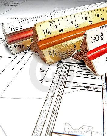 Architect's Tools And Plans Royalty Free Stock Image - Image: 1401536