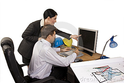 Architect team in office