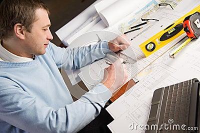 Architect in work.
