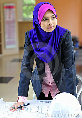 An architect Young Muslim woman