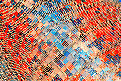 Architectonic detail in Torre Agbar in Barcelona
