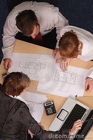 Architects Brainstorming Stock Image - Image: 2896201