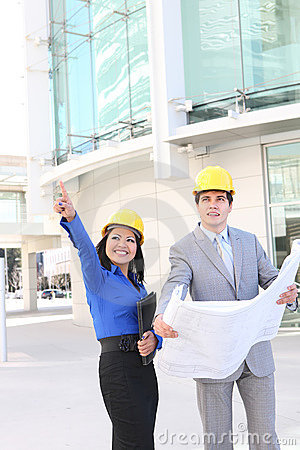 Architects on Building Construction Site