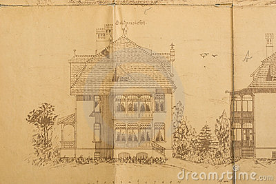 Architects sketch of house