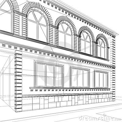 Free Architectural Abstract Sketch Stock Images - 19133514