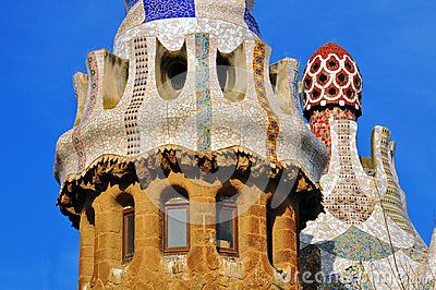 Architectural background by Gaudi, Barcelona Editorial Stock Image
