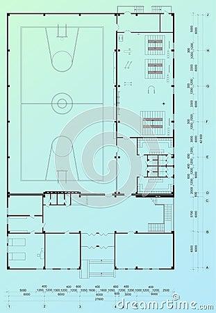 Architectural blueprint
