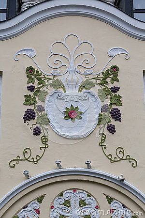 Free Architectural Detail -  Facade Of An Art Nouveau Building Royalty Free Stock Photo - 96636985