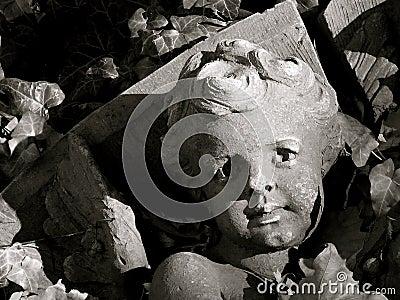 Architectural Detail of Fallen Angel