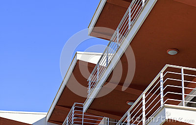 Architectural detail of a modern building