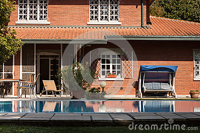 Architectural detail of a nice villa