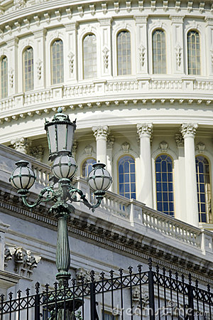 Architectural detail of US Capitol building
