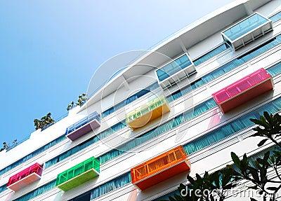 Architectural details, modern hotel