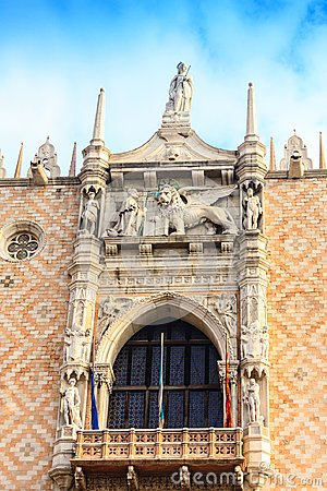 Free Architectural Details Of The Doge`s Palace Stock Image - 111427451