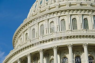Architectural details of US Capitol building