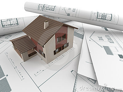 Architectural drawings and house