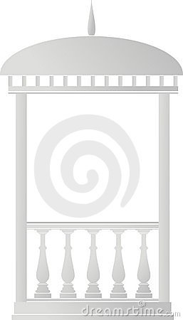 Free Architectural Element - Arbour (rotunda) Royalty Free Stock Images - 14916079