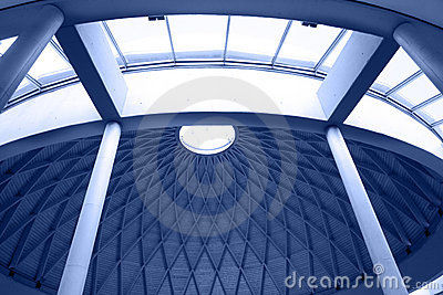 Architectural geometry in blue