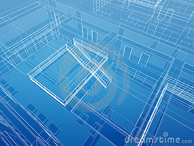 Architectural interior wired background