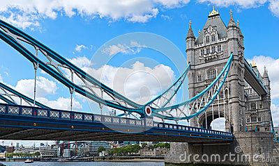 Architectural landscape of Tower Bridge