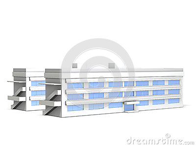 Architectural models of junior high school