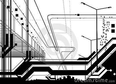 Architectural modern design vector