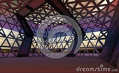 Architectural modern designed hall for concert