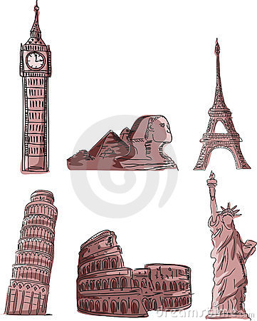 Architectural monuments,vector