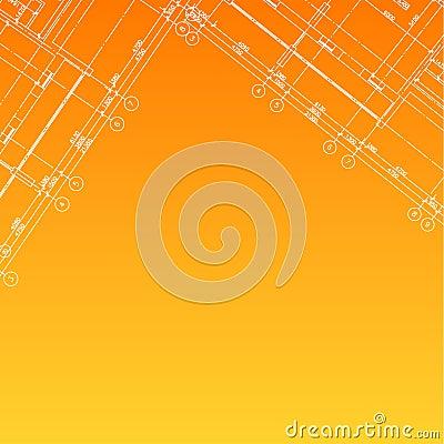 Architectural orange background