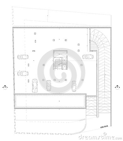 Architectural parking Plan