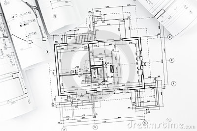 architectural plan drawings stock photo image 39324552