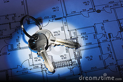 Architectural plan and keys