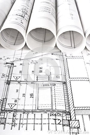 Architectural project architect workplace