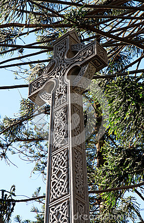 Big architectural Cross. Religion and Belief symbol.