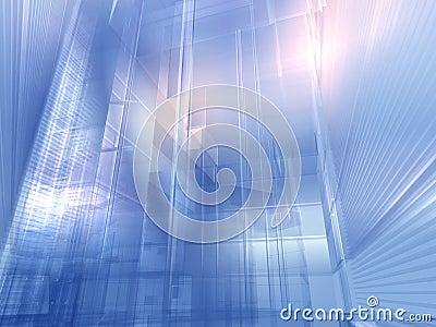 Architectural silver blue