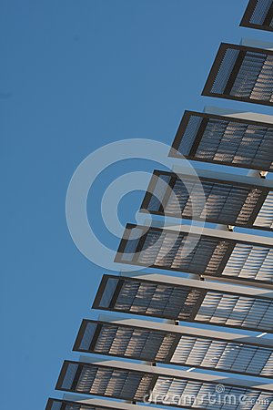 Architectural structure against blue sky