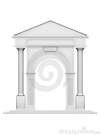 Architecture arc with column