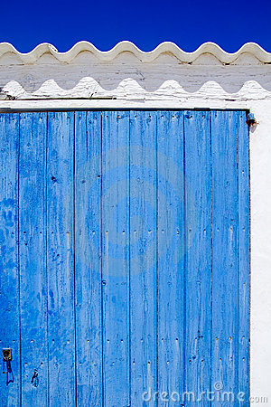 Architecture balearic islands white blue doors