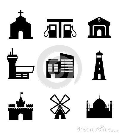Architecture and buildings icons