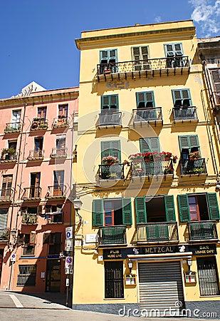 Architecture Cagliari Editorial Stock Photo