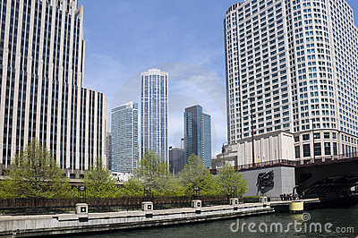 Architecture on Chicago River
