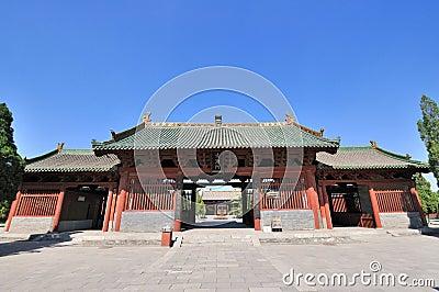 Architecture chinoise de temple image libre de droits for Architecture chinoise